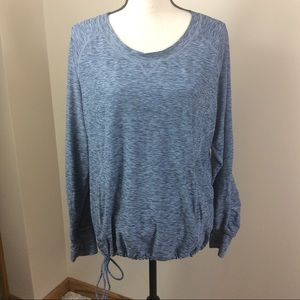 Prana Activewear Long Sleeve Top Blue/Gray Sz M